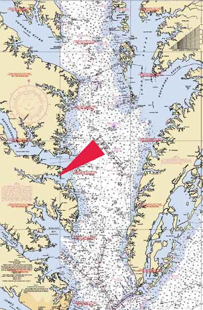 Our location fishing bay marina for Chesapeake bay fishing map