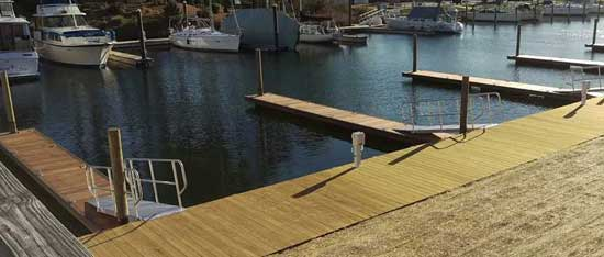 after— 10 new floating dock slips