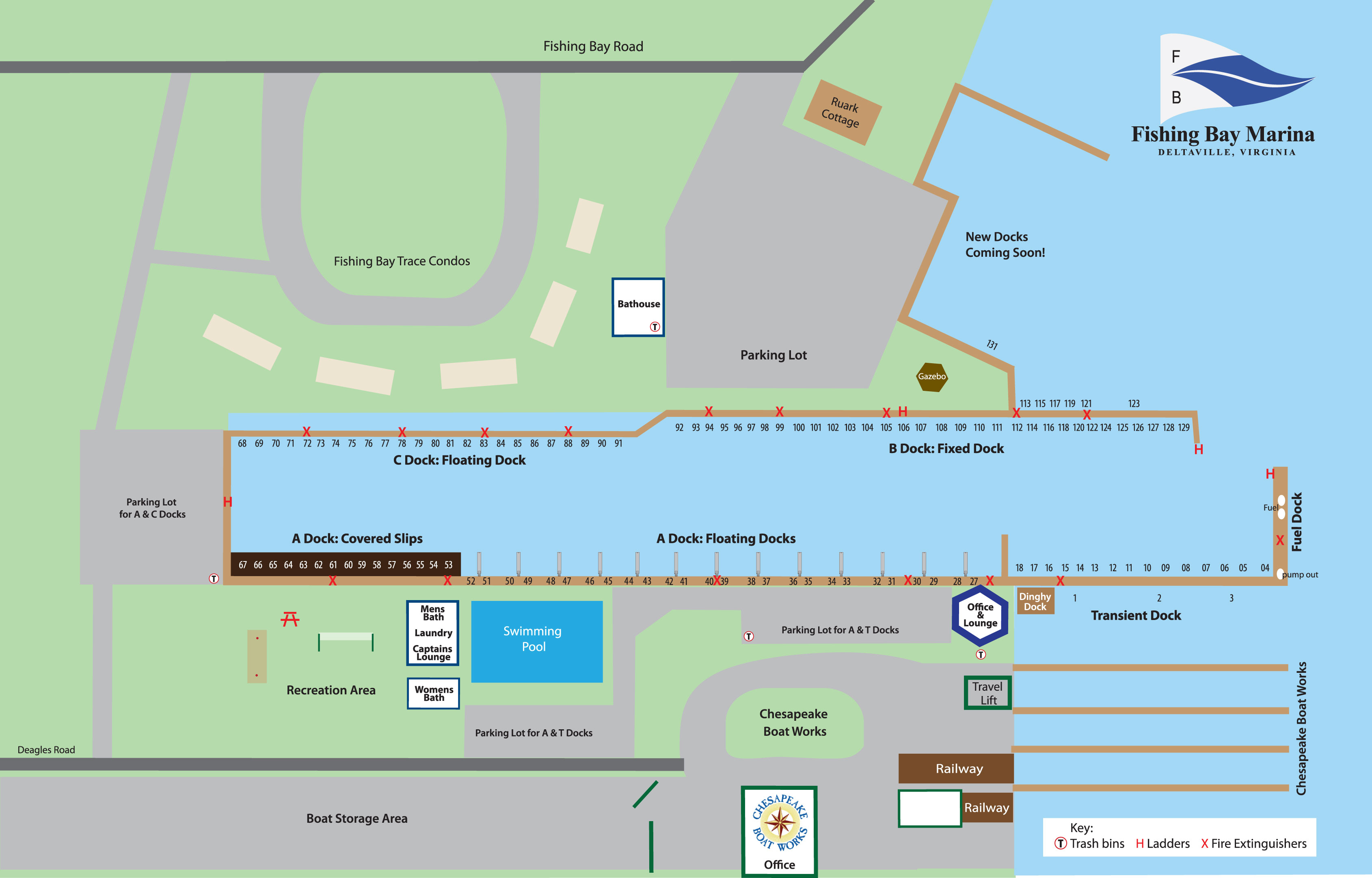 Fishing Bay Marina Map
