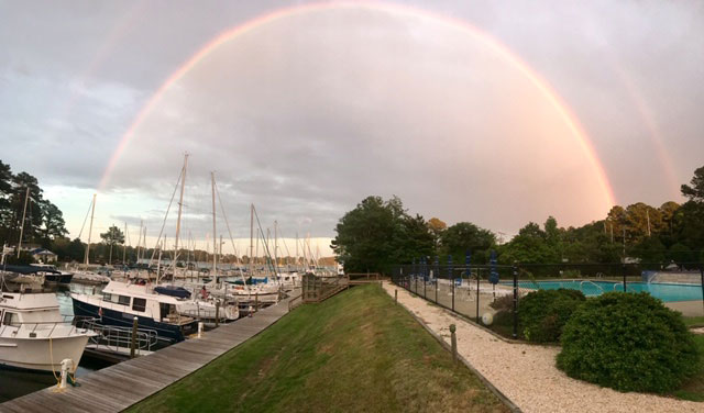 Rainbow over Fishing Bay Marina
