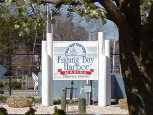 fishing bay sign